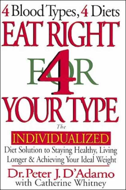 Book Review Eat Right 4 Your Type Blood Types Diets